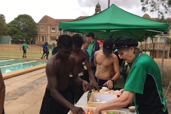 Feeding the hungry swimmers