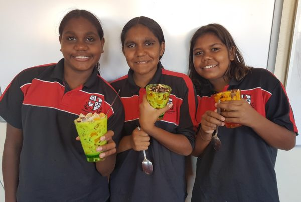 Students enjoy the fruits of their labour